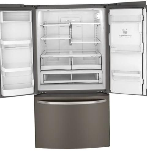 Glass Door Refrigerator With Ice Maker