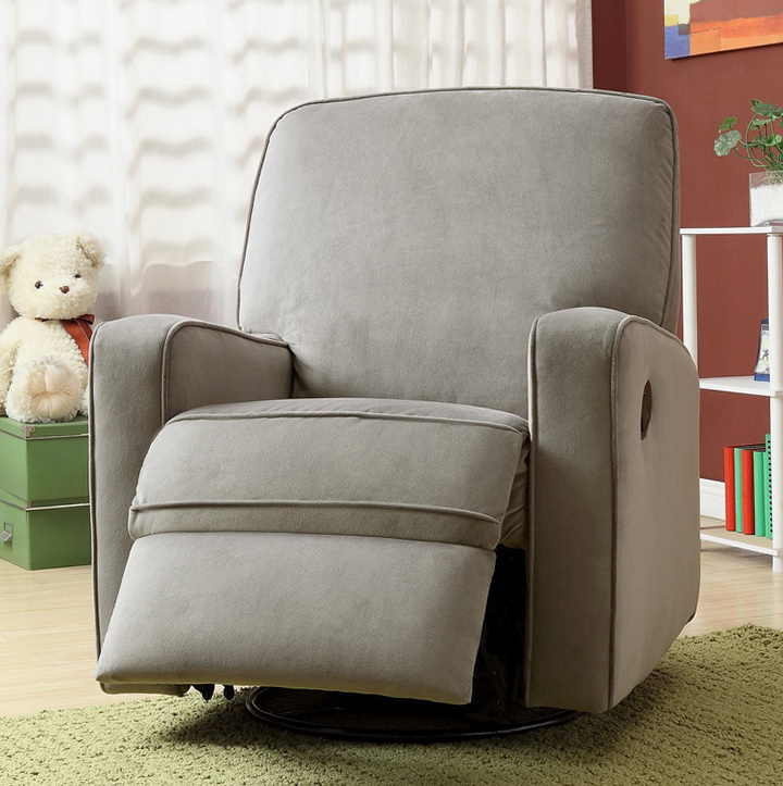 Gray Nursery Rocking Chair