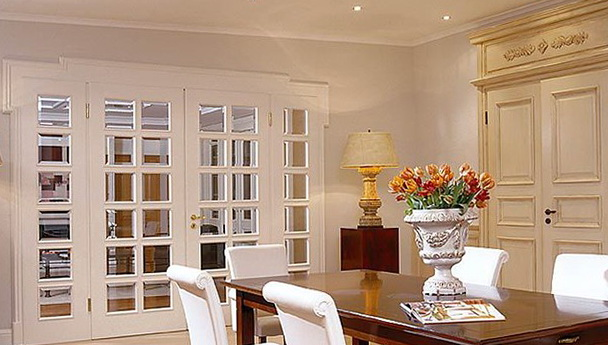 Interior French Doors With Transom And Sidelights