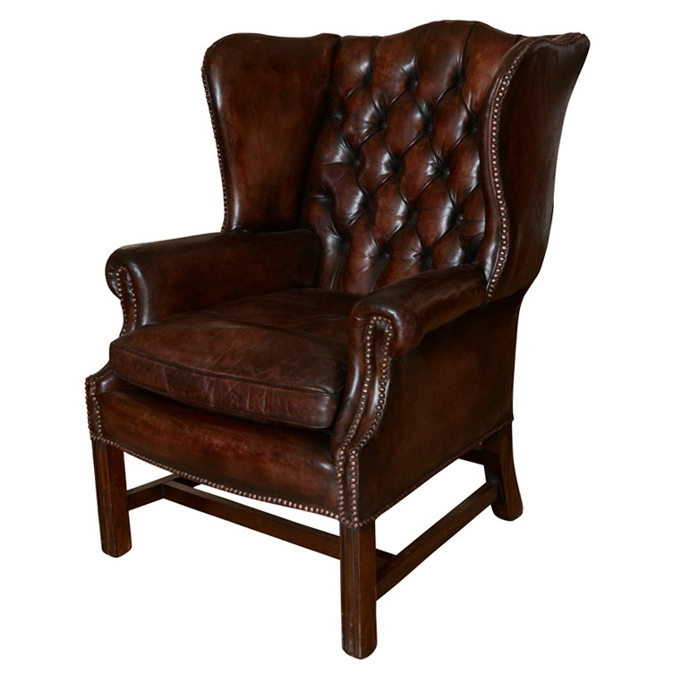 Leather Wing Back Chairs