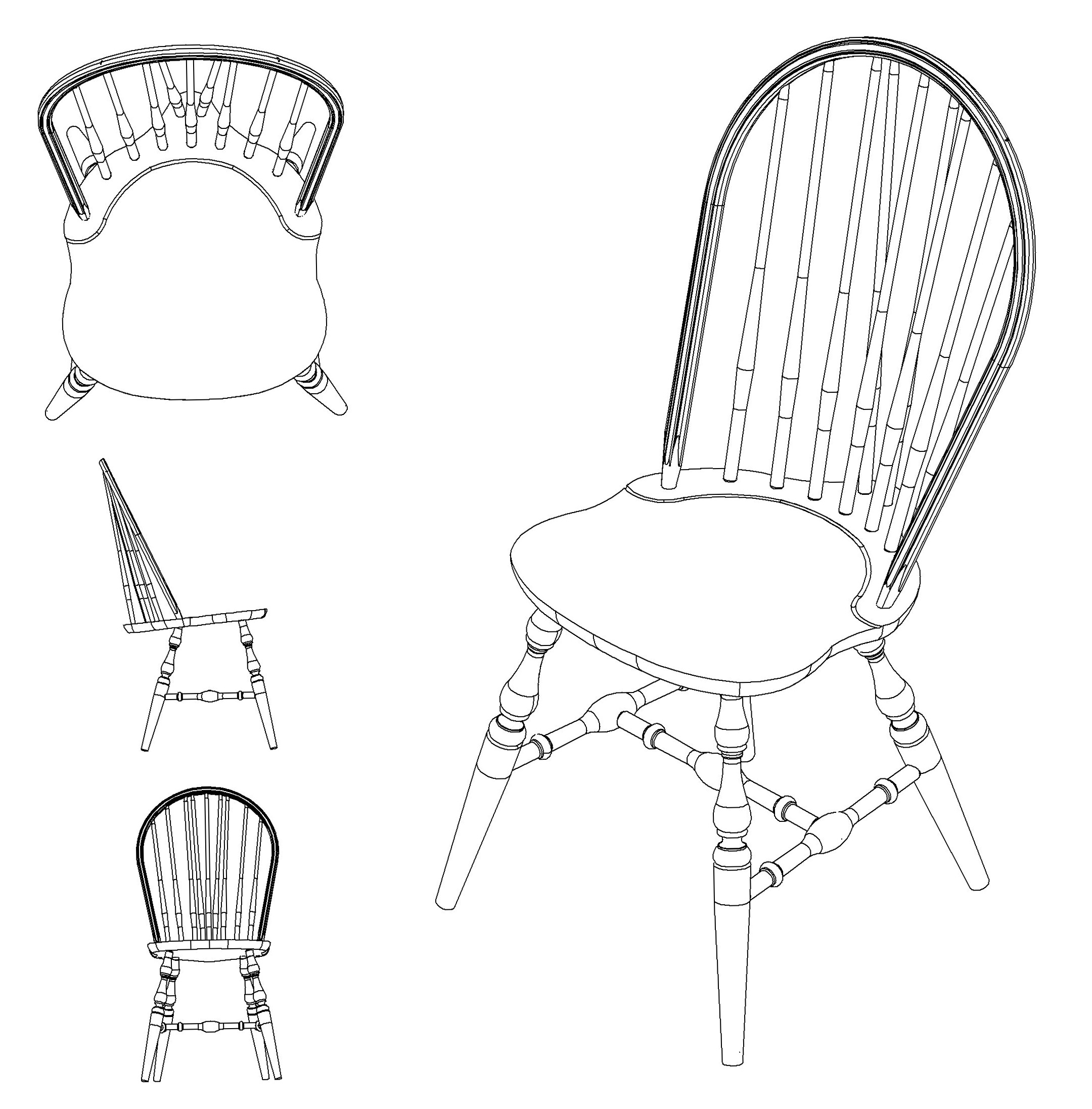 Table And Chairs Drawing