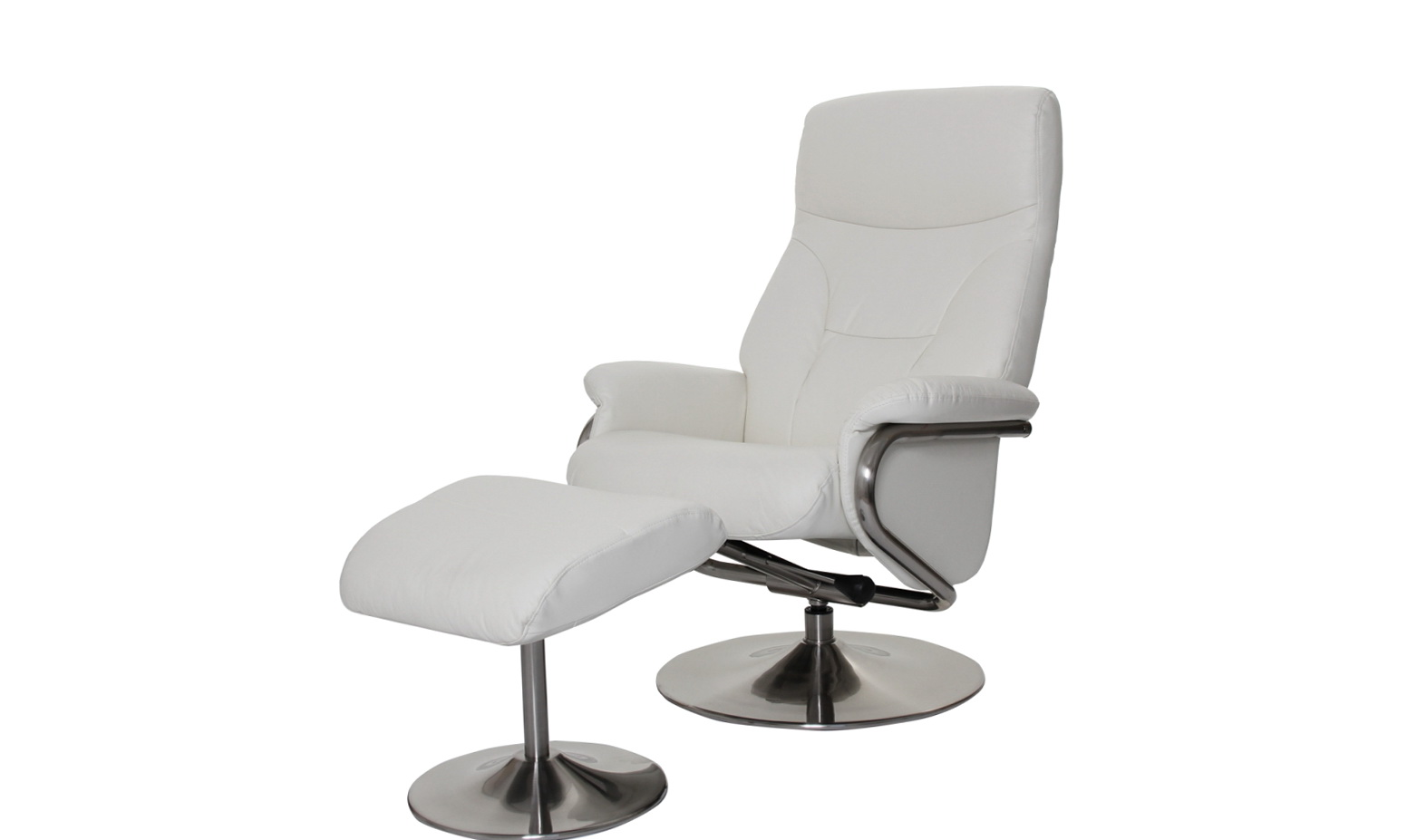 White Leather Recliner Chairs