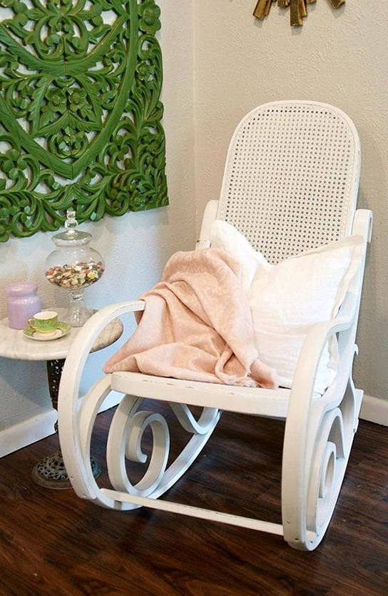 White Nursery Rocking Chair