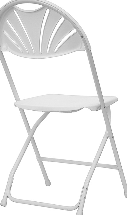 White Plastic Folding Chairs Wedding