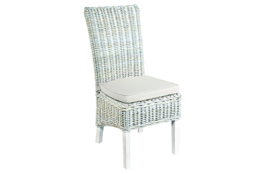 White Rattan Dining Chairs
