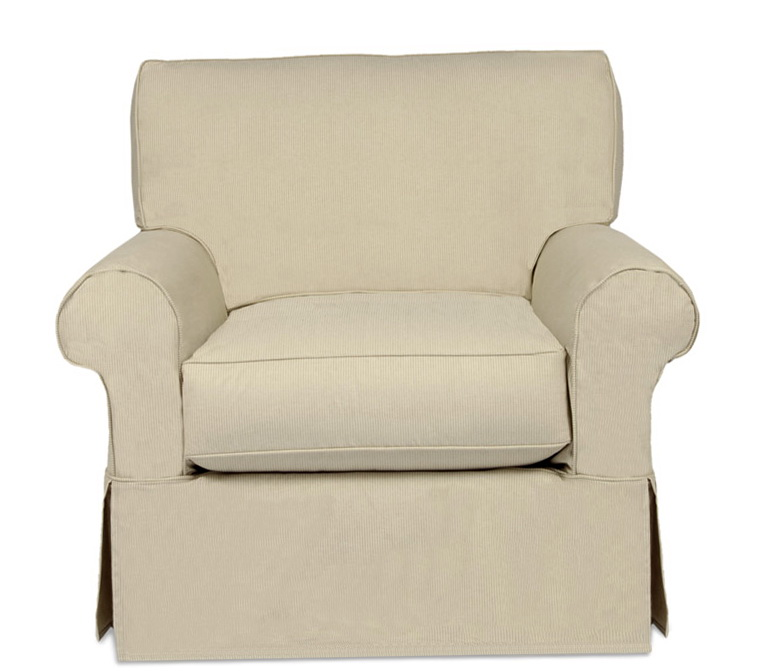 Wing Chair Slipcover Box Cushion