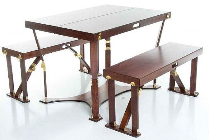 Wooden Folding Table And Chairs