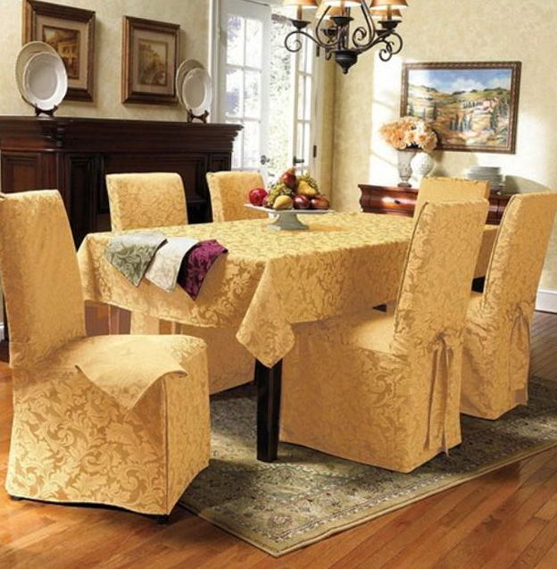 Yellow Dining Chair Slipcovers
