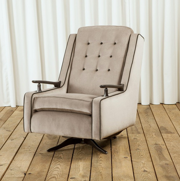 1950 Upholstered Rocking Chair