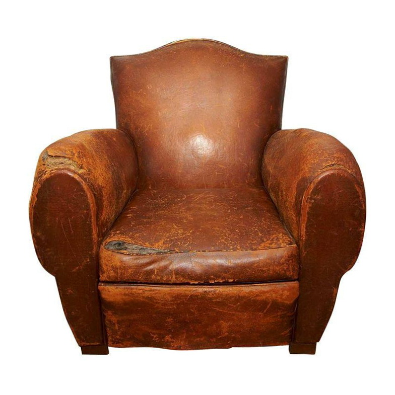 Antique Leather Club Chairs