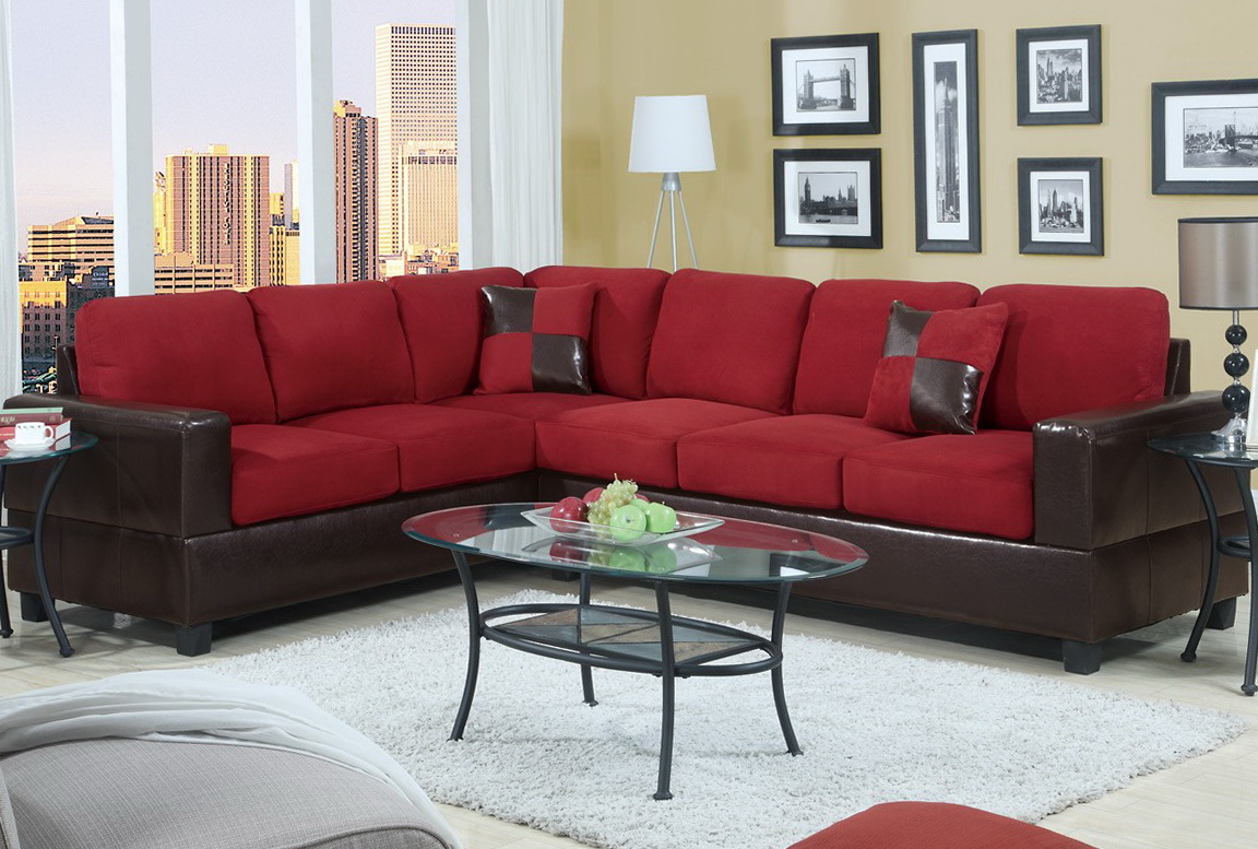 Ashley Red Sectional Sofa