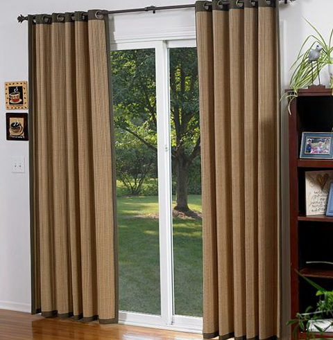 Bamboo Sliding Glass Door Blinds