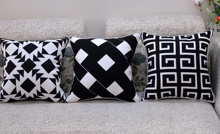 Black Sofa Cushion Covers