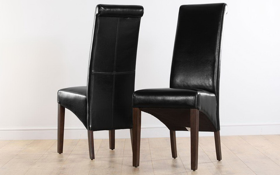 Black Upholstered Dining Room Chairs