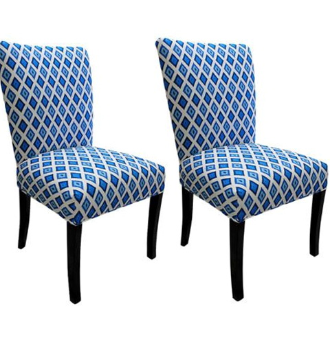 Blue Upholstered Dining Room Chairs