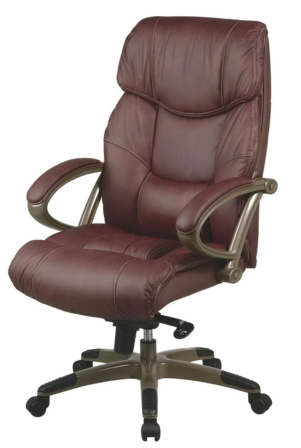Brown Leather Office Desk Chairs