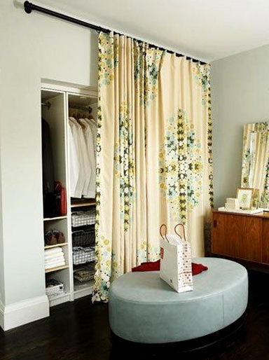 Closet Door Ideas Curtain