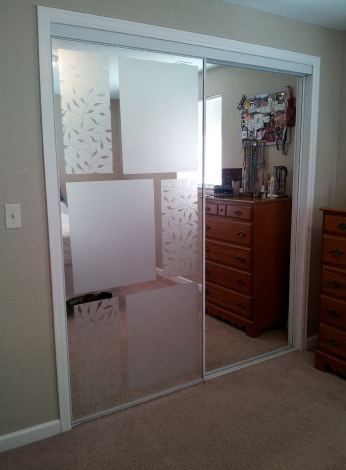 Covering Mirrored Closet Doors