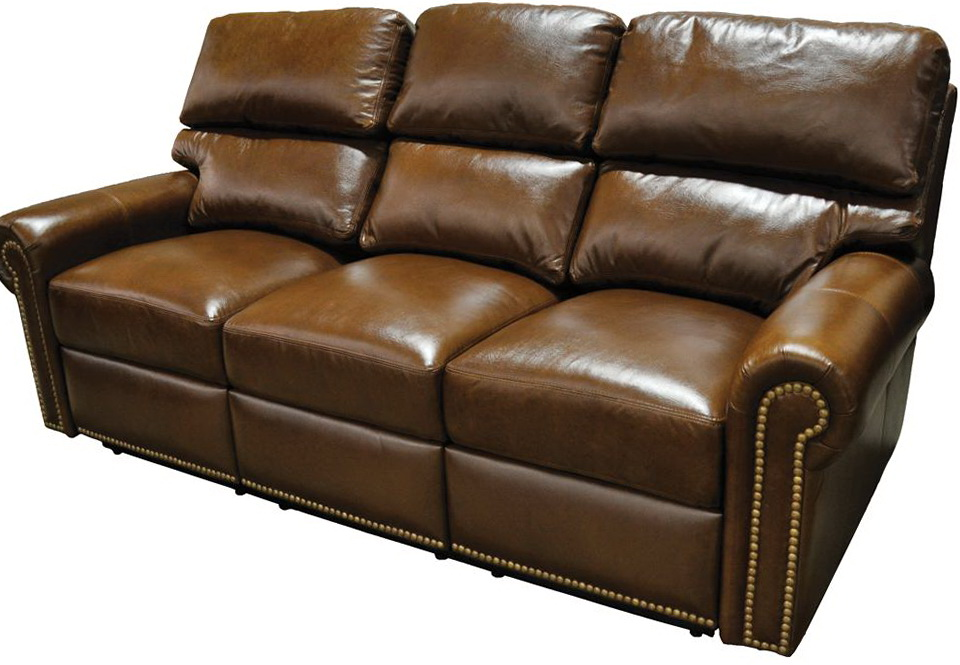 Distressed Leather Sofa Recliner