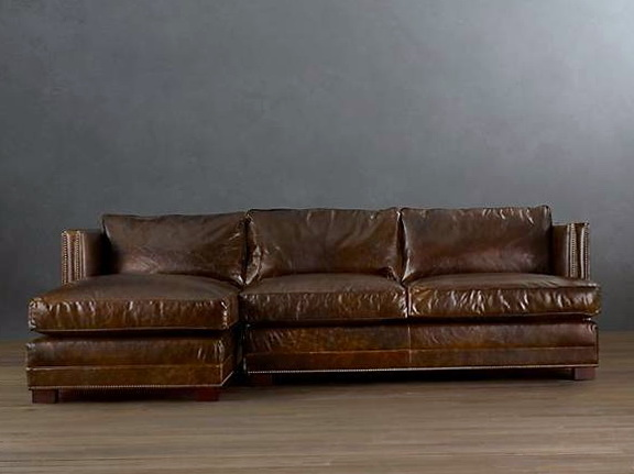 Distressed Leather Sofa Restoration Hardware