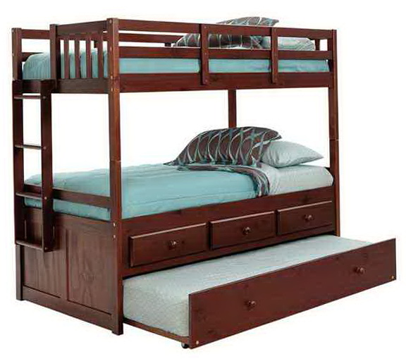Double Bunk Beds With Trundle