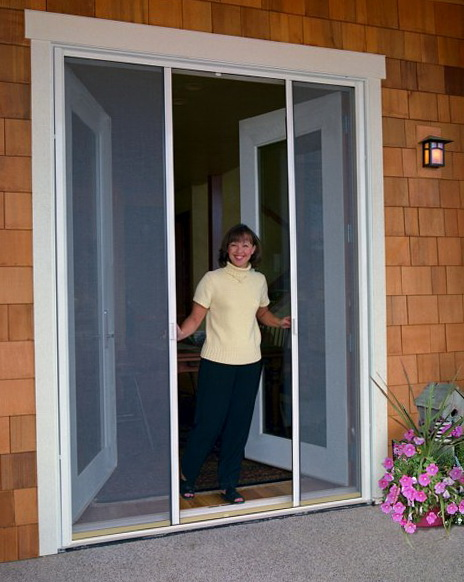 Double Entry Doors With Screens
