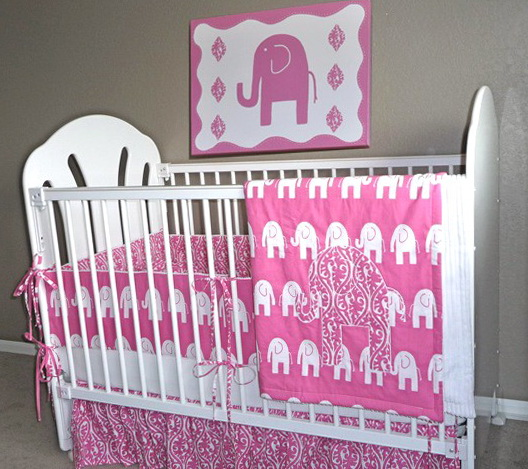 Elephant Crib Bedding For Girls