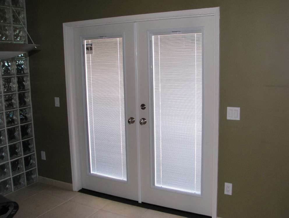Fiberglass Entry Doors With Blinds Between Glass