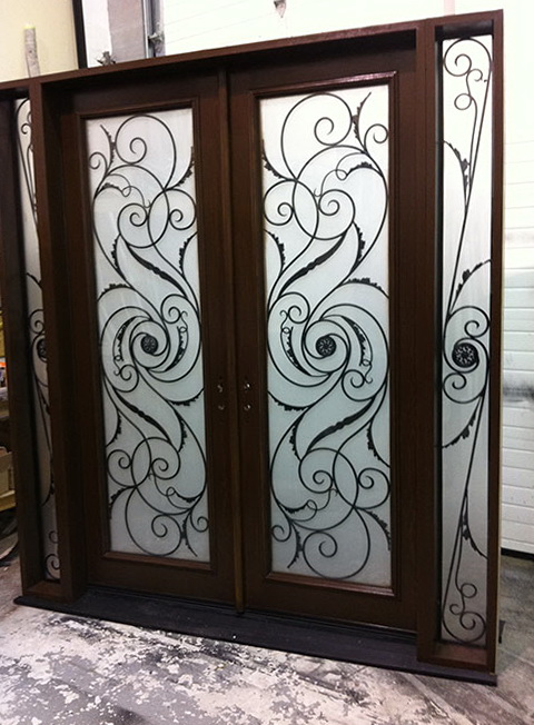 Fiberglass Entry Doors Wrought Iron