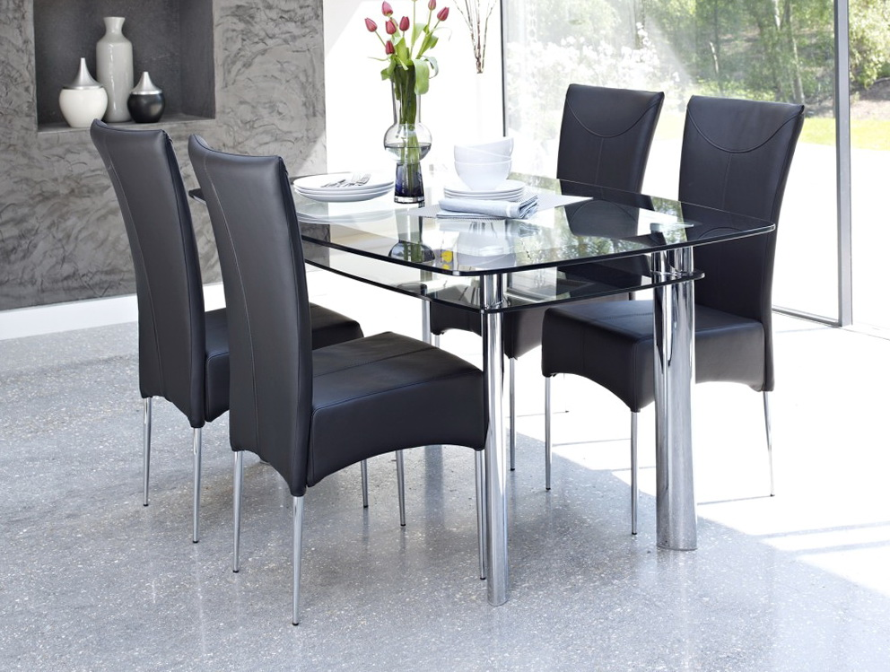 Glass Dining Room Tables And Chairs