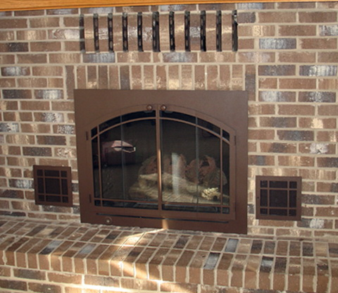 Glass Fireplace Doors With Vents