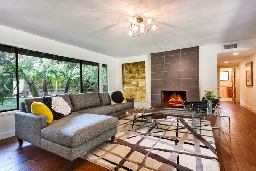 Grey Mid Century Modern Sofa