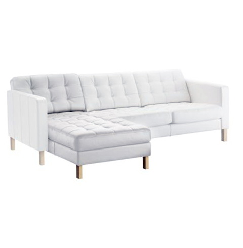 Ikea Leather Sofa White