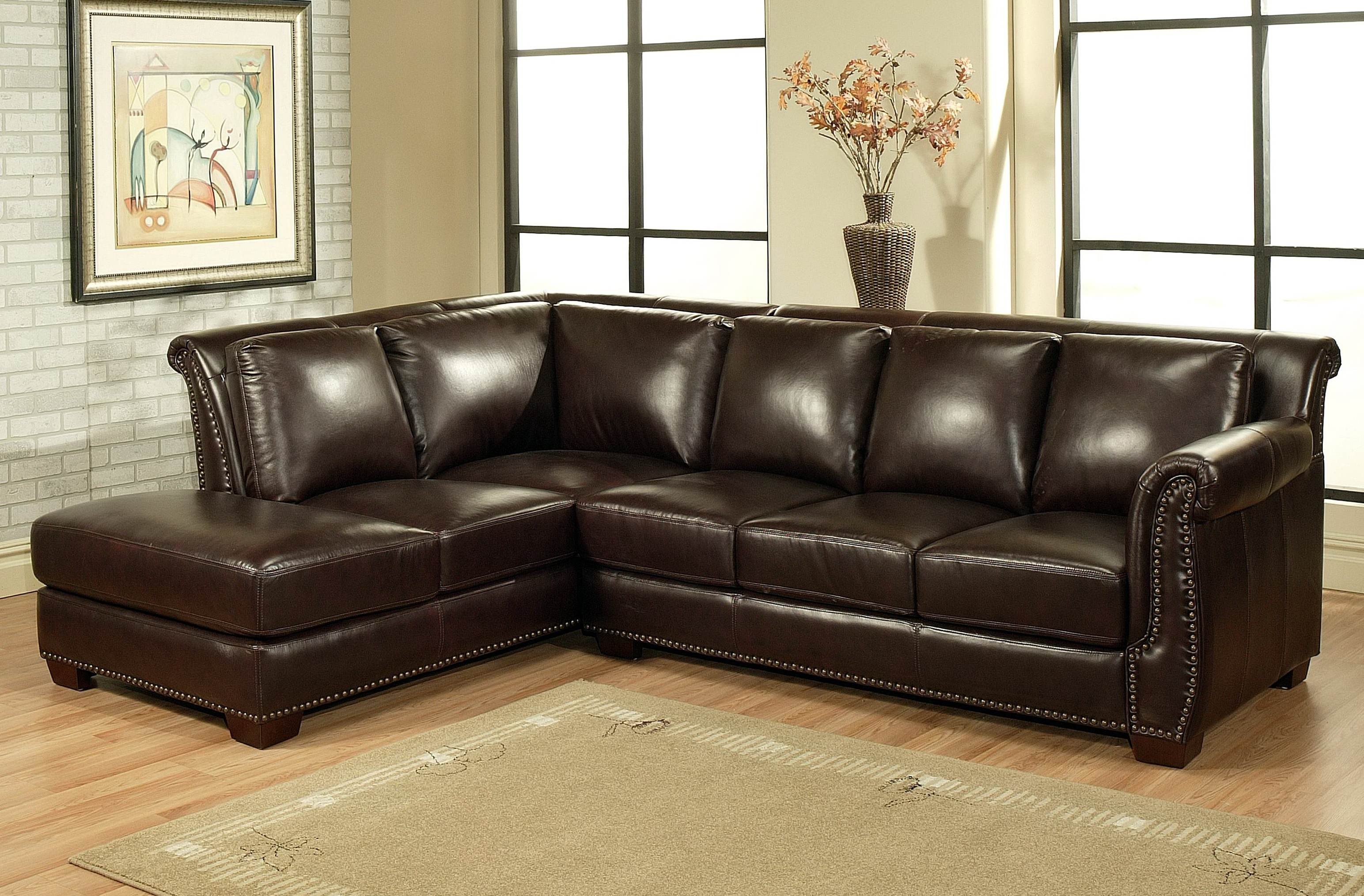 Large Leather Sectional Sofas