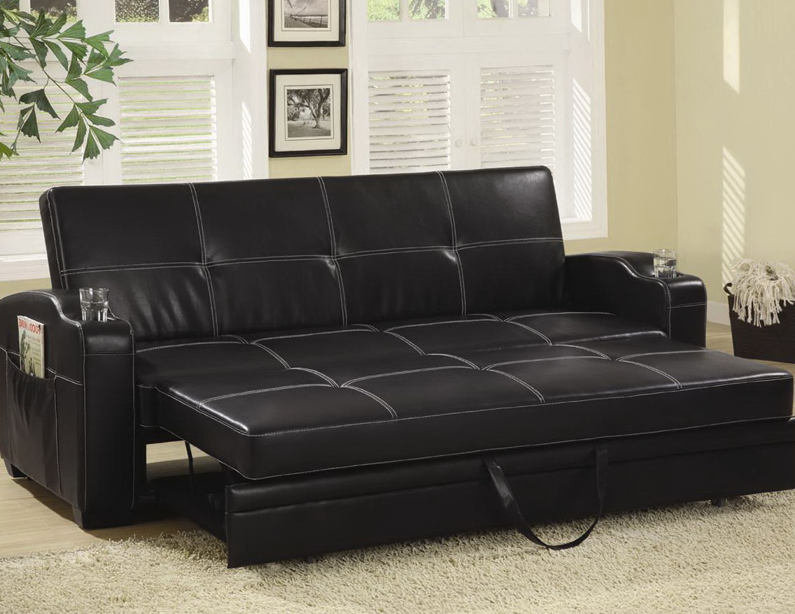 Leather Sofa Bed With Chaise