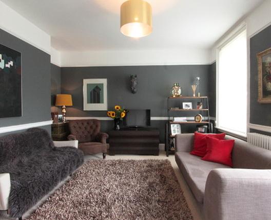 Living Room Chair Rail Ideas