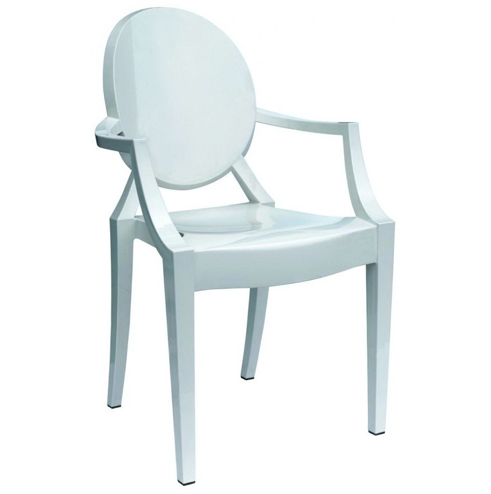 Louis Ghost Chair White