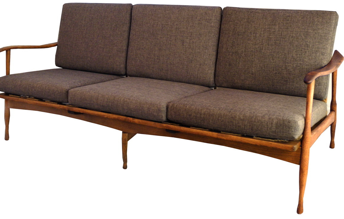 Mid Century Sofa Wood