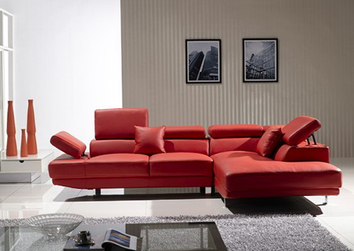 Modern Red Sectional Sofa
