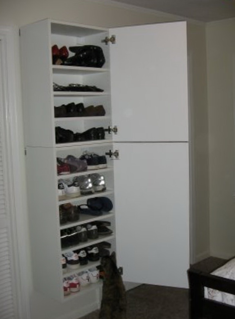 Shoe Storage Cabinet With Doors