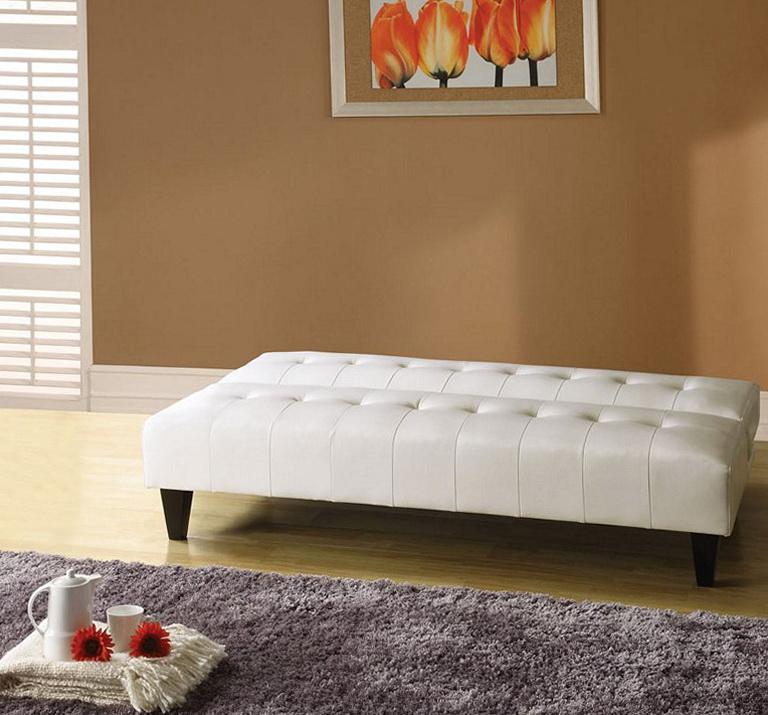 Tufted Leather Sleeper Sofa