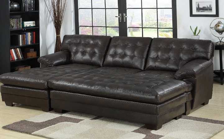 Tufted Leather Sofa Bed