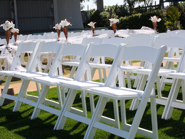 White Folding Chairs Wedding
