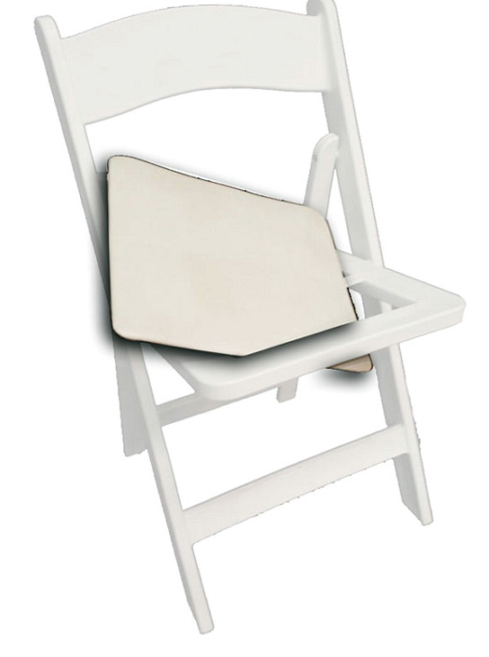 White Folding Chairs With Cushion