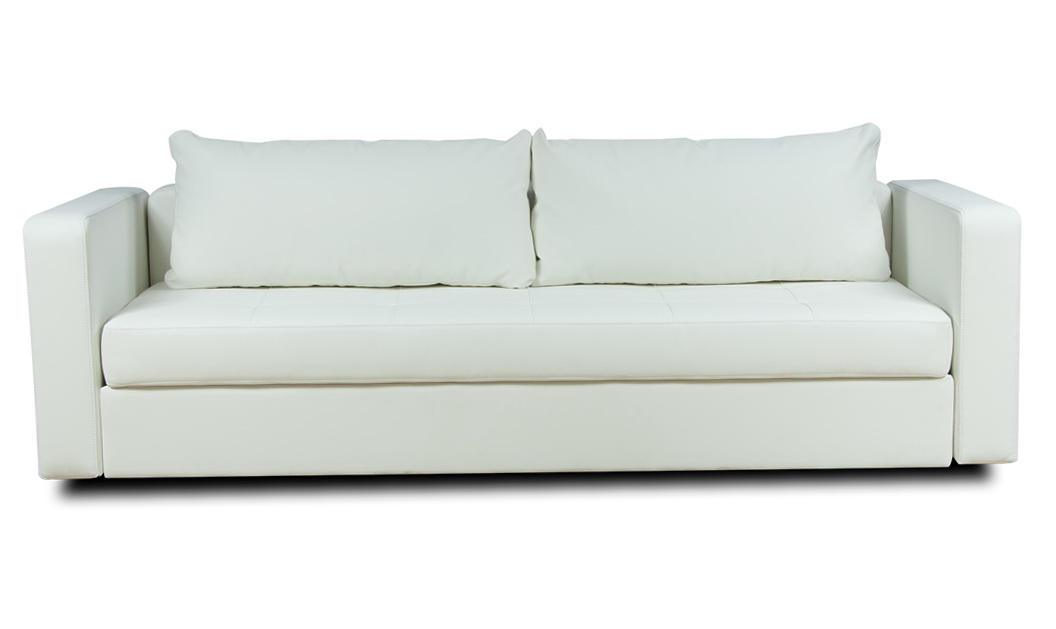 White Leather Sleeper Sofa