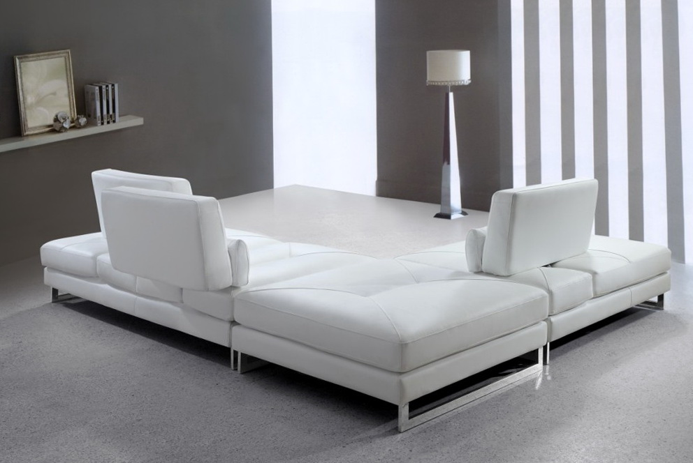 White Leather Sofa Modern