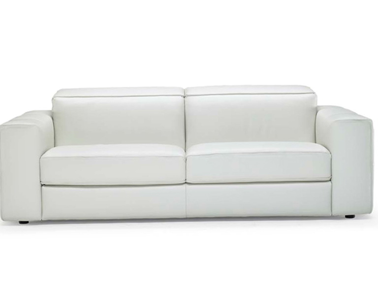 White Natuzzi Leather Sofa
