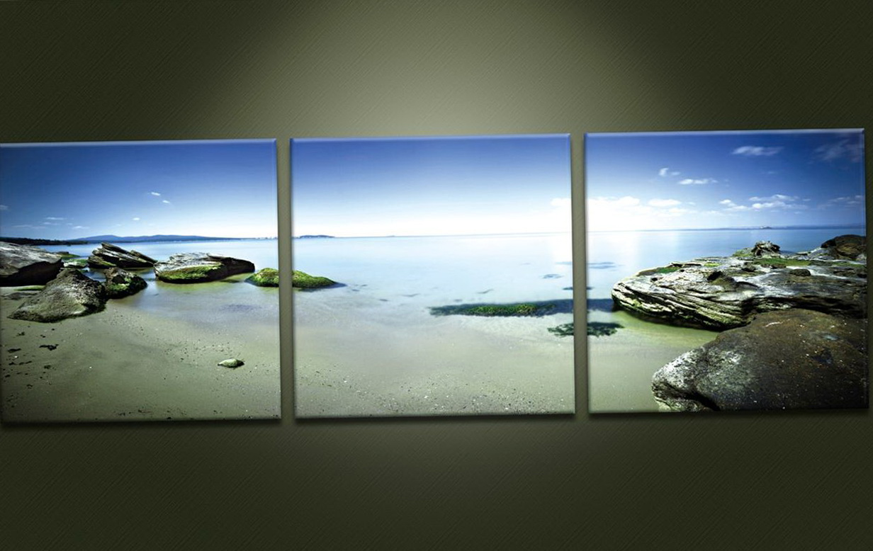 3 Panel Wall Art Beach