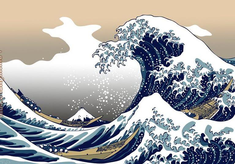 Art Wall Katsushika Hokusai The Great Wave