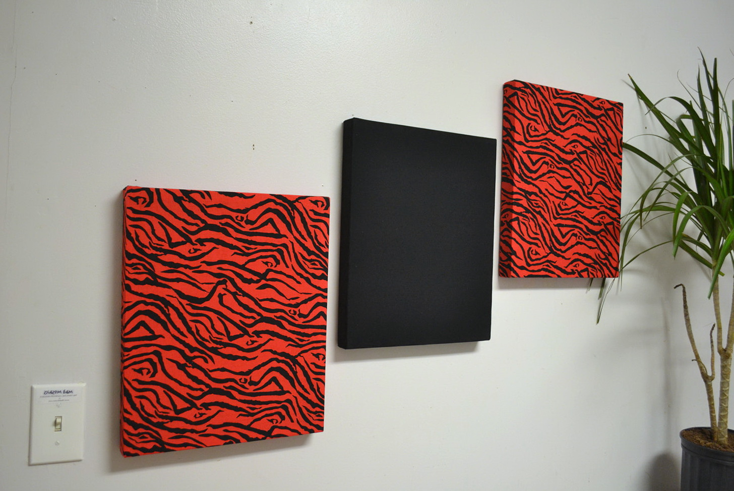 Black And Red Wall Art